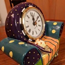 Whimsical  Milson & Louis Clock Chair QUARTZ CLOCK Hand Painted  Mint Condition  image 6
