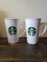 Pair of  Starbucks Mermaid Logo Tall Coffee Mug Cup 18oz 2015 - $39.99