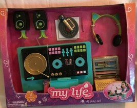 "My Life As Dj Play Set 11 Pieces Table Headphones Laptop Microphone 18"" Doll New - $44.54"