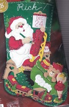 Bucilla Santas Toy Shop Sled Train Bear Christmas Eve Felt Stocking Kit ... - $79.95