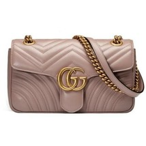 2019 Gucci Marmont Dusty Pink Leather Shoulder Bag Small Brand New! Auth... - $1,611.25