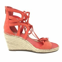 Vince Camuto Women's Size 11 Tannon Wedge Espadrille Lace Up Sandals Red... - $46.72