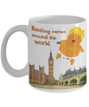 Baby Trump Flying Balloon Over London Funny Rattling Nerves Protest Coff... - $14.84+
