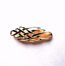 Monet Signed Brooch Gold Tone Woven Design - $12.38