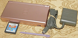 Nintendo DS Lite Metallic Rose Pink Handheld System Console + Sims Kingd... - $51.41