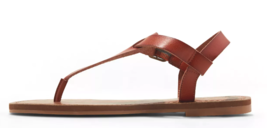 Universal Thread Women's Cognac Lady Toe Thong Summer Sandals Vegan NEW w Tags image 2