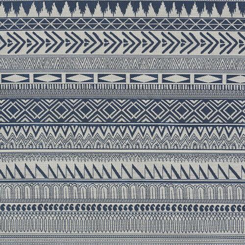 Knoll Upholstery Fabric Holbrook Ethnic Stripe Indigo Blue 19 yds K19285 FQ