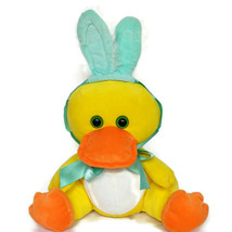 Animal Adventure Easter Duck Bunny Rabbit Ears Bow Plush Stuffed Animal ... - $26.42