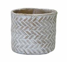 "Melrose International Grey, White, Brown Pot (Set of 2) 8.75""D x 8""H Cement - £44.35 GBP"