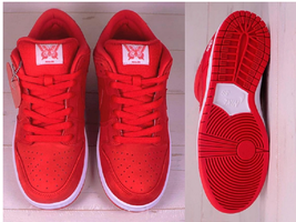Nike Verdy SB Dunk Low Pro Qs Girls Don't Cry Red Shoes GDC Heart Shoela... - $865.00