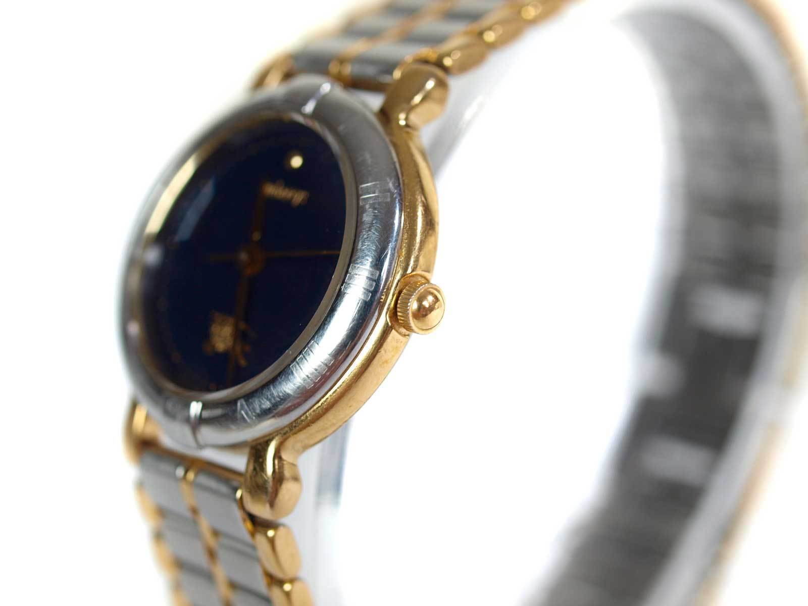 Authentic BURBERRY Navy Blue Dial Stainless Steel Women's Quartz Watch BW7005L