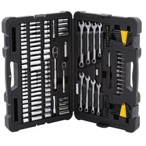 Tool Set Mechanics Wrench Socket Ratchet Nuts Bits Stanley 145-Piece - $63.71