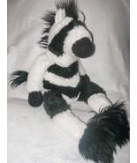 Aurora Zebra Plush Stuffed Animal Long Legs Shelf Sitter 19 inches Sitting - $29.68