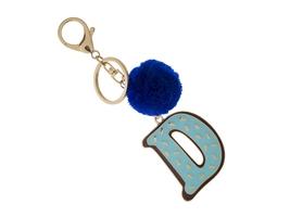 """Colorful & Fun Goldtone Pom Pom Initial """"D"""" Keychain - $15.95"""