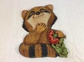 Vintage 1977 Dart Ind Decorative Raccoon Wall Decor Plastic Homco - $24.99