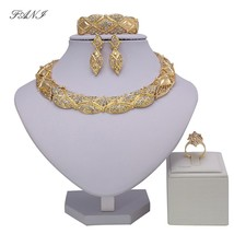 Fani Exquisite Dubai Gold color Jewelry Set Women customer Nigerian Wedd... - $22.79