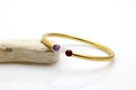 Birthstone bracelet,amethyst bracelet,moonstone bracelet,carnelian bracelet - $79.00
