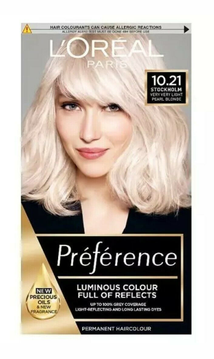 L'Oreal Preference VERY VERY LIGHT PEARL BLONDE Hair LIGHTENER Dye STOCKHOLM - $20.50