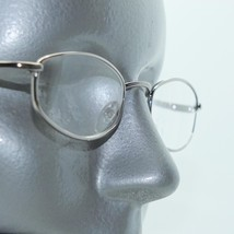 Reading Glasses Low Profile Oval Octagon Silver Metal Frame +3.00 Lens - $16.00