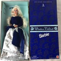 Barbie Mattel 15571 Winter Velvet Doll Avon Exclusive 1995 Platinum Blon... - $19.02