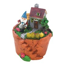 Solar Lights Outdoor Statues, Terra Cotta Pot Yard Outdoor Gnomes - $31.49