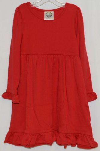 Blanks Boutique Long Sleeve Empire Waist Red Ruffle Dress Size 4T