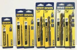 """(New) Irwin Turbomax 3/32"""", 7/32"""", 13/32"""", 15/32"""" Drill Bit Set - $43.55"""