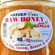 Raw Honey With Ginger 2.5 Lbs / 40oz 100% Pure Usa Honey - $19.75