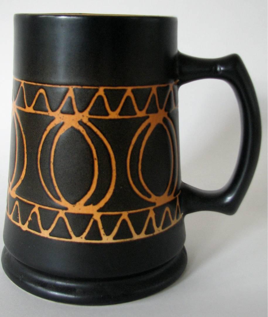 Vintage Stein Orange Brown Germany Mug