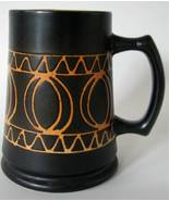 Vintage Stein Orange Brown Germany Mug - $34.00