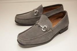 Alfani Size 8 Grey Horse Bit Loafers Men's Suede Dress Shoes - $38.00