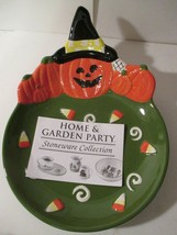 Home & Garden Party Stoneware Collection Jack O Lantern  Halloween Candy... - $22.76