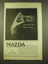 1918 General Electric Mazda light bulb Ad - Not the name - $14.99