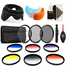 58mm Color Filters with Accessory Kit for Canon EOS Rebel T6 and T7i - $41.13