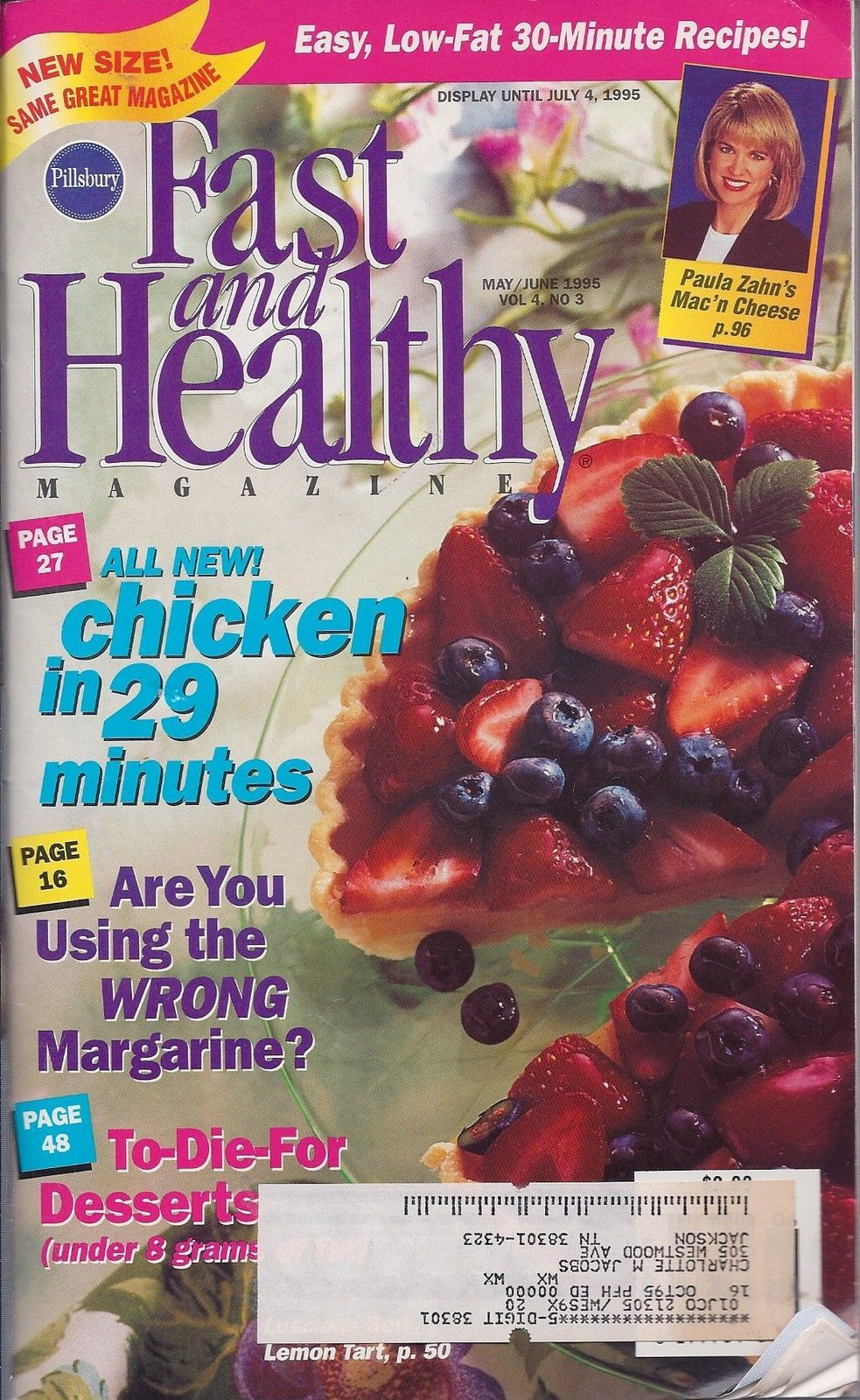 Primary image for Fast and Healthy By Pillsbury May/June 1995 Magazine Cook Book