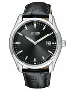 New Citizen Eco Drive Men's Stainless Steel Leather Strap Watch AU1040-08E - $143.55