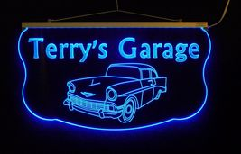 Personalized Custom LED Sign, Man Cave, Garage, 57 Chevy-Gift for Dad - $97.00