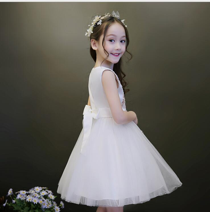 Lovely Flower Girl Dress For Wedding Party 2018 Girls Pageant Gowns Ball Gowns