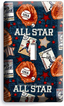 Baseball Vintage All Star Single Light Switch Power Wall Plate Cover Room Decor - $8.99
