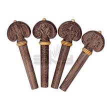 SKY Brand New 4/4 Full Size Rosewood Hand Carved Violin Pegs Endpin Set ... - $19.79