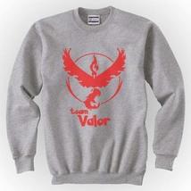 Team valor Red Pokemon Go Crewneck Sweatshirt  S-3XL Light Steel - $30.00+