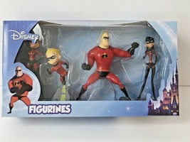 "NEW Disney INCREDIBLES Mini Figurines Set Of 4 Collectibles 3""  - $14.62"