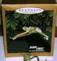 1994 Hallmark Star Trek Next Generation Klingon Bird of Prey Ornament Fl... - $29.49