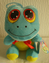 Play by Play Blue & Yellow Frog Toad Soft Toy Plush, New with Tags - $21.95