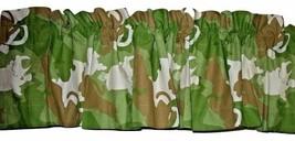Scooby Doo Safari Window Valance Boys Camouflage Brown Green NWOT - $12.99