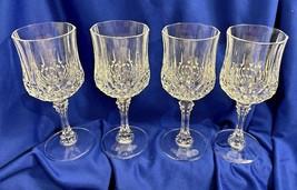 "Crystal Ware Stemware Lot Of 4 Wine Glass Champagne Dinnerware Elegant 7 1/4"" t  - $69.25"
