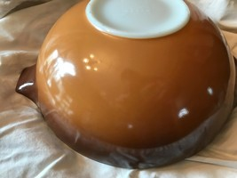 Vintage Pyrex Old Orchard Cinderella Bowl #444 4 Liter Brown Gold VGUVC - $14.92