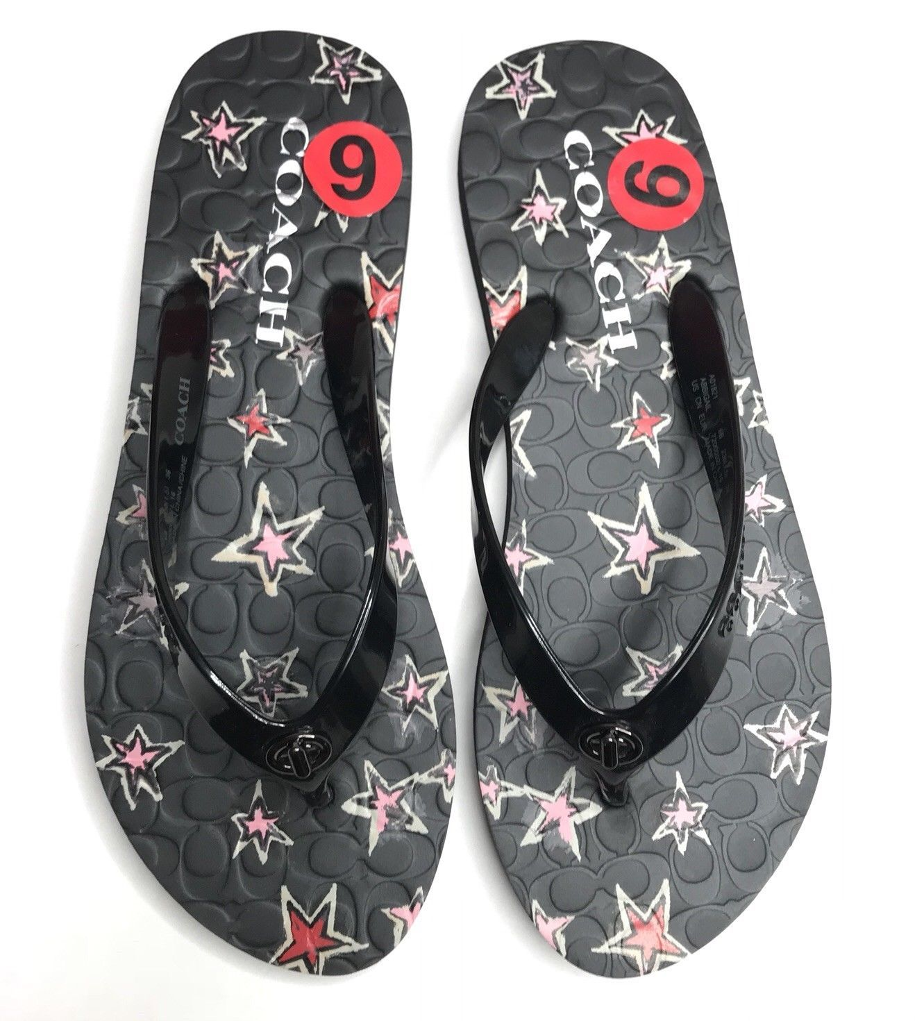 bc50fa1b2 Coach Flip Flops NEW Women Size 5-6 Black and 30 similar items