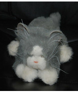 Tiger Electronics Gray White Cat Kitten Plush Toy Meows Purrs Moves Paws... - $24.70