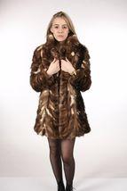 Brown Sable Fur Coat Sectional size Large US 12 EU 42  Genuine Sable 100% image 3